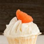 Kokosnuss-Cupcakes mit Grapefruit