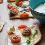 Flammkuchen Tomate-Mozzarella