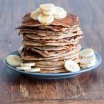 *Vollkorn*Pancakes mit Schokoladenstücken und Banane