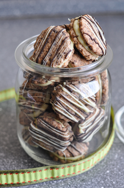 Weihnachtsplätzchen Schokoladenplätzchen.Schokoladenplätzchen Mit Schokoladenganache Backeifer