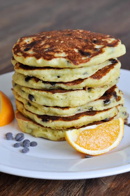Orangenpancakes