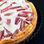 Rhabarberkuchen mit Quarkguss
