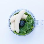 Grüne Muffins mit Spinat und Banane
