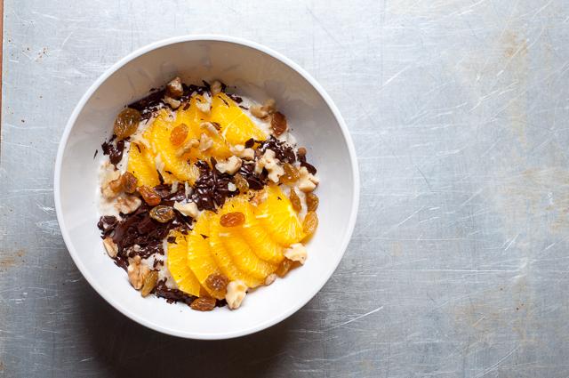 Haferbrei mit Orange und Schokolade - ein tolles Frühstück